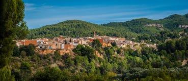 Körning av platser på vägen till Barcelona, Spanien royaltyfria bilder