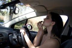 körning av smink Fotografering för Bildbyråer