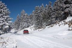 körning av snow Royaltyfria Bilder