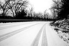 körning av vinter Arkivbilder
