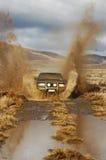 Körning för fyra hjul Arkivfoto