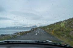 Körning i Island Arkivfoton