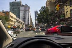 Körning i Manhattan trafik Royaltyfri Bild