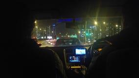 Körning i staden Arkivbilder