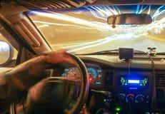 Körning på hastighet av lampa Arkivbild