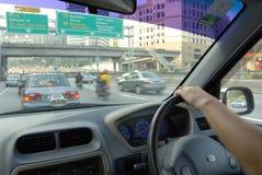 körning som fungerar Arkivfoton