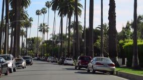 Körning till och med Beverly Hills stock video