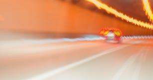Körning till och med en tunnel Royaltyfri Foto