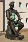 Körper-Form-Statue des olympischen Ringkämpfers Wes Barnett stockbilder