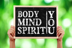 Körper-Sinnesgeist Sie Stockfotos