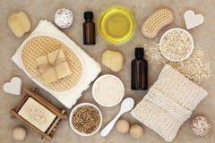 Körper und Hautpflegeprodukte stockfotografie