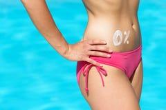Körperfett-Sommerkonzept Stockfoto