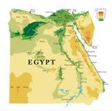 Körperliche Karte Ägyptens lizenzfreies stockfoto