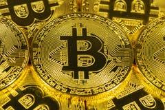 Körperliches Goldcryptocurrency bitcoin Lizenzfreies Stockbild