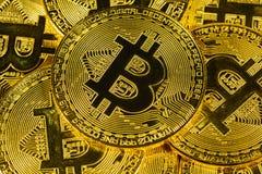 Körperliches Goldcryptocurrency bitcoin Lizenzfreie Stockfotos