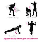Körperliches Muskelschattenbild der Übung Stockbild