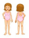 Körperteile des jungen Mädchens Lizenzfreie Stockfotos