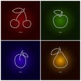 Körsbär Apple, plommon, päron Royaltyfri Foto