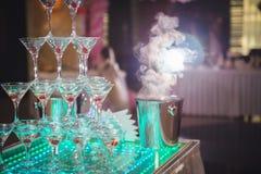Körsbär i champagne Royaltyfri Foto