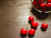 Körsbärbär stänger sig upp Royaltyfri Foto