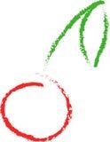 Körsbäret skissar Arkivbild