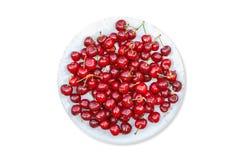 Körsbärsröd fruktplatta Arkivbild