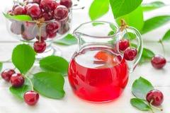 Körsbärsröd fruktsaft Royaltyfri Bild