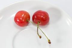 Körsbärsröd ny frukt Fotografering för Bildbyråer