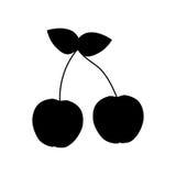 Körsbärsröd ny frukt Arkivbilder