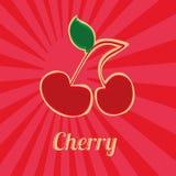 Körsbärsröd symbol Arkivfoton