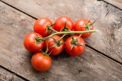 Körsbärsröd tomat Fotografering för Bildbyråer