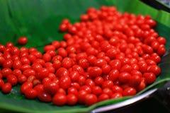 Körsbärsröd tomat Royaltyfria Foton