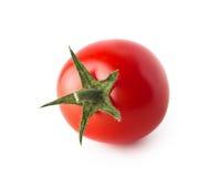 Körsbärsröd tomat som isoleras på vit bakgrund Fotografering för Bildbyråer