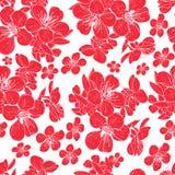 Körsbärsröda blommor royaltyfri illustrationer