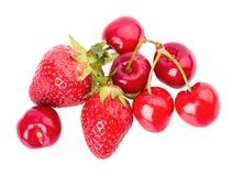 Körsbärsröda jordgubbar Royaltyfri Bild
