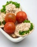 Körsbärsröda tomater Arkivbild