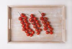 Körsbärsröda tomater Arkivbilder