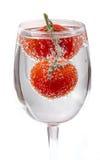 Körsbärsröda tomater med gasbubblor Royaltyfria Bilder