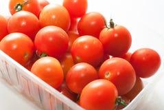 Körsbärsröda tomater med svansar Royaltyfria Foton
