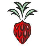 Körsbärsrött objekt för jordgubbe vektor illustrationer