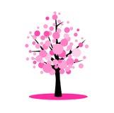 Körsbärsrött träd för blomning Fotografering för Bildbyråer