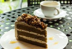 Köstlich vom Schokoladenkuchen Lizenzfreie Stockbilder