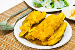 Köstlich von der Manioka im Sirup Lizenzfreie Stockbilder