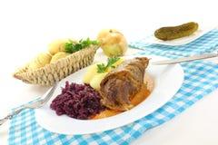 Köstliche angefüllte Rindfleischrolle Stockfotografie