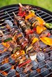 Köstliche Aufsteckspindeln auf Grill Lizenzfreie Stockfotos