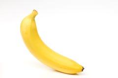 Köstliche Banane lokalisiert auf dem Weiß Stockfotos