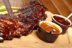 Köstliche BBQ-Rippen Stockfoto