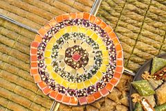 Köstliche bunte türkische Freude stockfoto