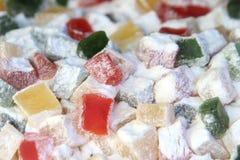 Köstliche bunte türkische Freude stockbild
