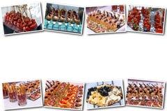 Köstliche Canapes als Ereignisteller lizenzfreie stockbilder